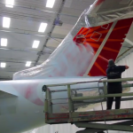Corporate jet painting
