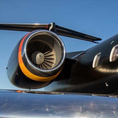 Embraer Regional ERJ Aircraft Paint Job Livery black