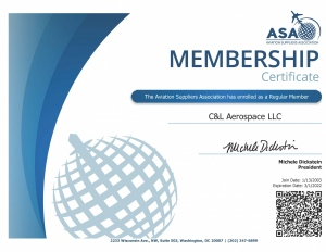 C&L Aerospace - ASA Membership Certificate